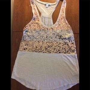 EXPRESS Gold Sequined Tank